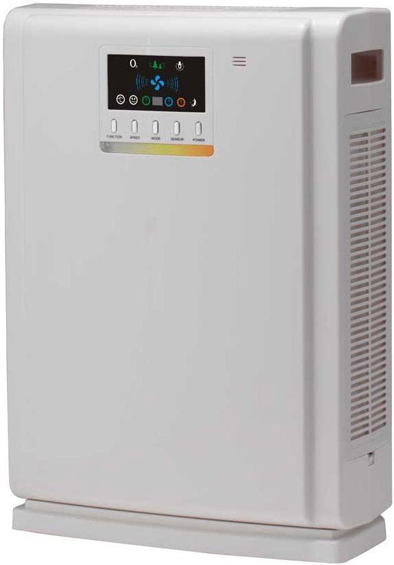 Shivaki SHAP-2010W очиститель воздухаSHAP-2010WОчиститель воздуха SHIVAKI SHAP-2010W необходим для восстановления воздушной среды в помещении. Чистый воздух является основой здоровья и жизни, поэтому данный прибор предотвращает размножение вирусов в воздухе, катехин и ультрафиолетовое излучение уничтожают бактерии и снижают токсическое действие вирусов. В очистителе воздуха установлендвойной фильтр HEPA, который поглощает пыльцу, дым и некоторые воздушные частицы, являющиеся причиной аллергии, респираторных заболеваний и астмы. Двойная ультрафиолетовая лампа помогает уничтожить до 97,6% бактерий. Функция ионизации: отрицательные ионы в медицинской сфере считаются «витаминами воздуха», они улучшают иммунитет, если человек находится в среде с высоким содержанием отрицательных ионов. В устройстве установлен датчик загрязнения, который может распознавать любые виды загрязнений в воздухе и управлять рабочим состоянием устройства. Прибор оборудован цветным LED дисплеем для более удобного использования. Очиститель воздуха SHIVAKI SHAP-2010W с высокой эффективностью очистки воздуха, современными технологиями и элегантным дизайном станет украшением любого интерьера