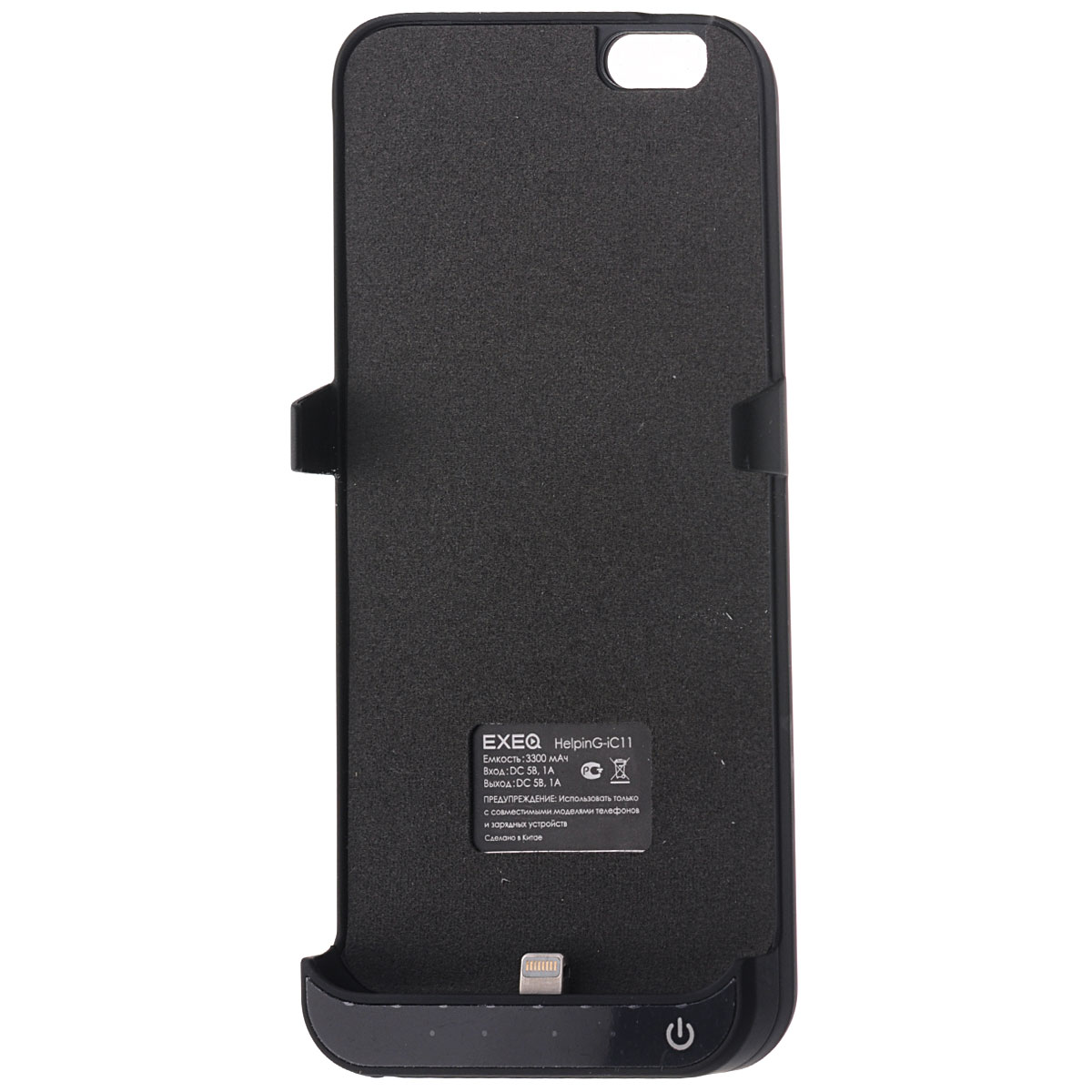 EXEQ HelpinG-iC11 чехол-аккумулятор для iPhone 6, Black (3300 мАч, клип-кейс)HelpinG-iC11 BL