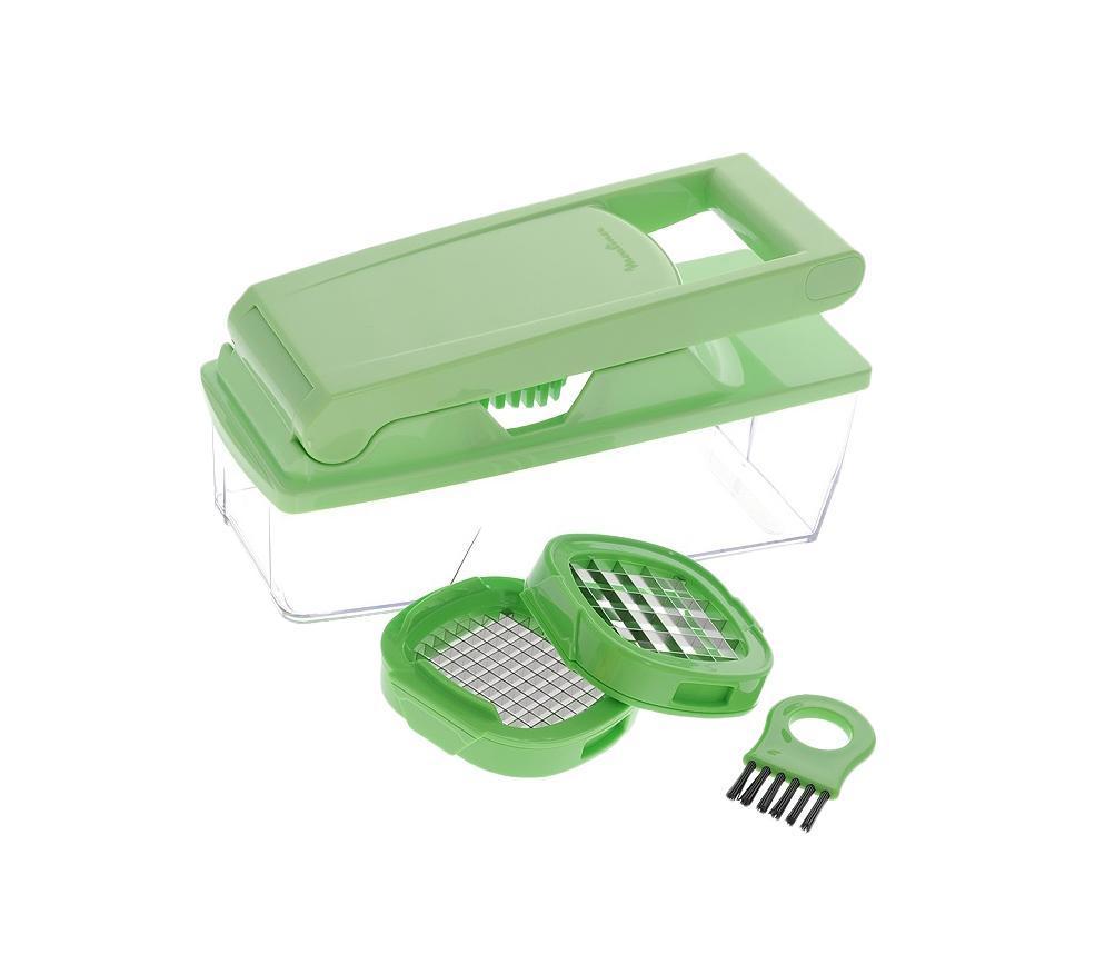 Moulinex K10301 овощерезкаK1030124Овощерезка Moulinex K1030124 с двумя решетками и прозрачной емкостью режет овощи и фрукты кубиками. Moulinex K1030124 проста и удобна в использовании. Овощерезка отличается компактными размерами. Имеется возможность выбрать размер нарезаемых кубиков. Овощерезка легко разбирается и моется.