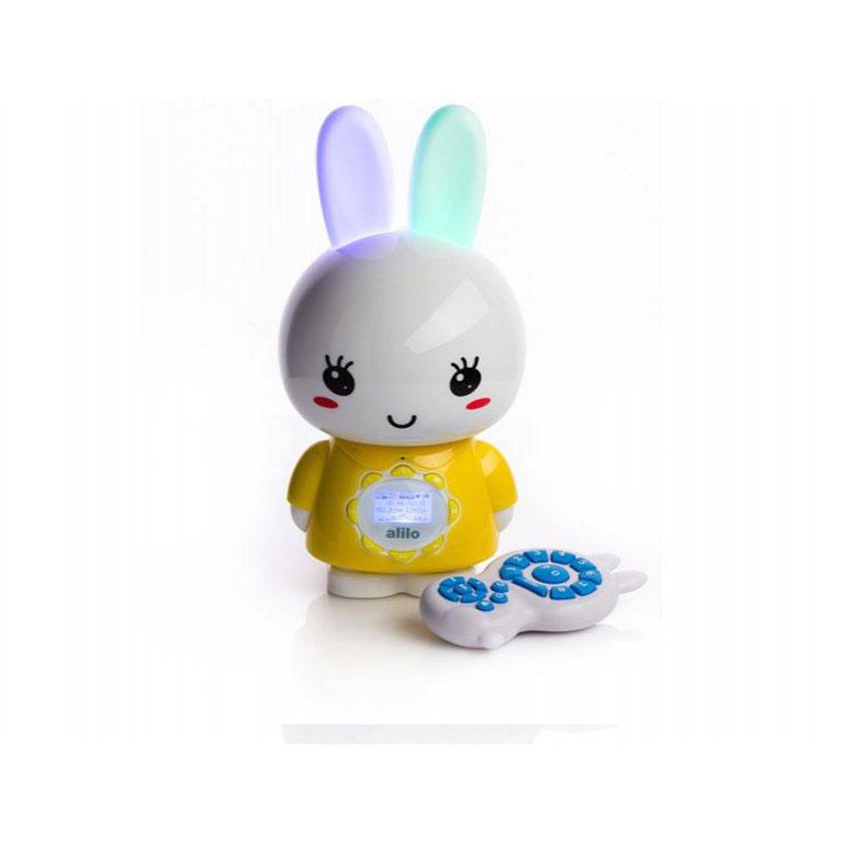 Alilo Музыкальная игрушка-ночник Большой зайка цвет желтый