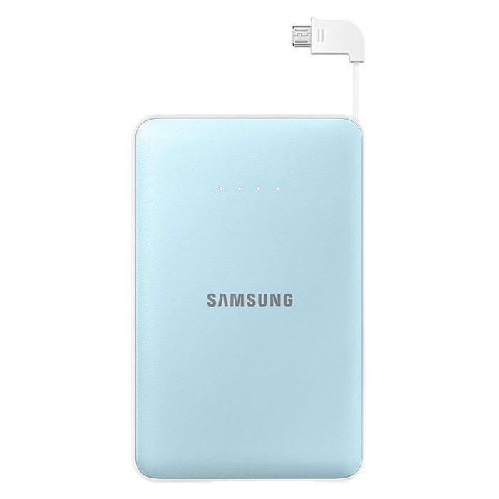 Samsung EB-PN915B, Blue внешний аккумуляторEB-PN915BLRGRUНаверное, каждый согласиться, что зарадка мобильного устройства-это достаточно скучный и длительный процесс, который часто доставляет неудобства. Такая неприятная ситуация лишает возможности совершить важный рабочий звонок, отправить электронное письмо близким или, например, завершить игру. Поэтому стоит задуматься о приобретении внешнего аккумулятора, который станет не только Вашим помощником, но и настоящем спасателем во время разрядки того или другого прибораЗамечательным вариантом для всех желающих приобрести этот полезнейший прибор станет модель Samsung Monkey 11300 mAh. С данным устройством Вы никогда не заскучаете. Скачав специальное забавное приложение CHARGE THE LIFE, Вы имеете возможно развлечь себя во время поездки или любого другого путешествия веселой игрой. Примечательным в приложении является то, что оно изображает различные движения животных, которые принадлежат к исчезающему виду, в соответствии с уровнем зарядки, а также животные реагируют, когда вы касаетесь экрана вашего устройства. Этот превосходный источник питания выручит Вас в любых ситуациях, которые связаны с зарядкой гаджетаБлагодаря компактным размерам, Вы всегда можете носить его с собой. Этот внешний аккумулятор можно использовать в любую минуту, все что при этом необходимо- это достать кабель и соединить его со своим мобильным устройством. Также производители данного аксессуара не забыли и о внешнем виде устройства, сделав его по-особенному современным и стильным. Он послужит чудесным дополнением к любому образу
