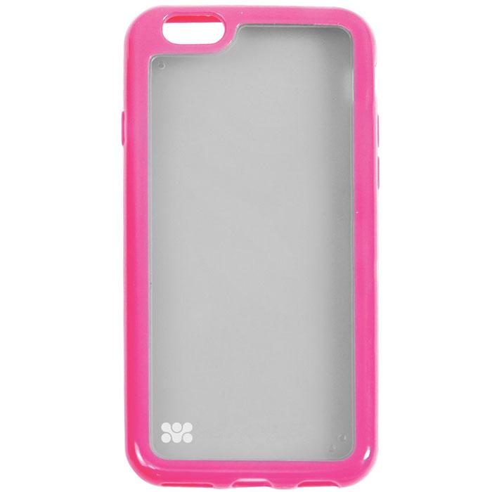 Promate Amos-i6 чехол-накладка для iPhone 6, Pink00008224Promate Amos-i6 является новым аксессуаром для iPhone-6, она идеально прилегает к корпусу и повторяет силуэт смартфона. Ультраэластичность превосходно защищает телефон от царапин и потертостей. В данной накладке встречаются практичность и дизайн. Доступность моделей в разных цветах позволяет менять стиль вашего iPhone каждый день!