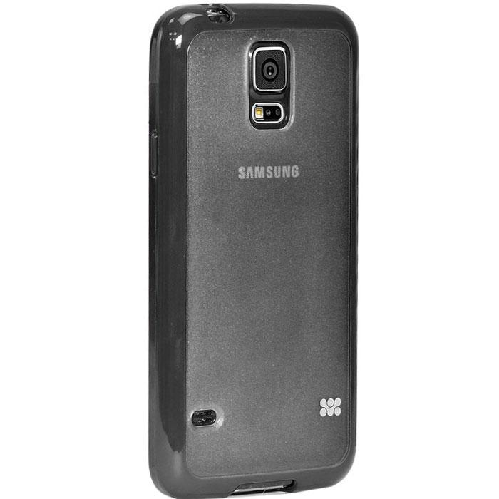 Promate Amos-S5 чехол-накладка для Samsung Galaxy S5, Black00007722Promate Amos-S5 является новым аксессуаром для Galaxy S5, он идеально прилегает к корпусу и повторяет силуэт смартфона. Ультраэластичность Amos S5 превосходно защищает телефон от царапин и потертостей. В данной накладке встречаются практичность и дизайн. Доступность моделей в разных цветах позволяет менять стиль вашего Samsung Galaxy S5 каждый день!
