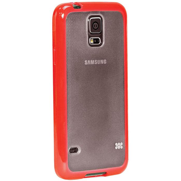 Promate Amos-S5 чехол-накладка для Samsung Galaxy S5, Red00007896Promate Amos-S5 является новым аксессуаром для Galaxy S5, он идеально прилегает к корпусу и повторяет силуэт смартфона. Ультраэластичность Amos S5 превосходно защищает телефон от царапин и потертостей. В данной накладке встречаются практичность и дизайн. Доступность моделей в разных цветах позволяет менять стиль вашего Samsung Galaxy S5 каждый день!
