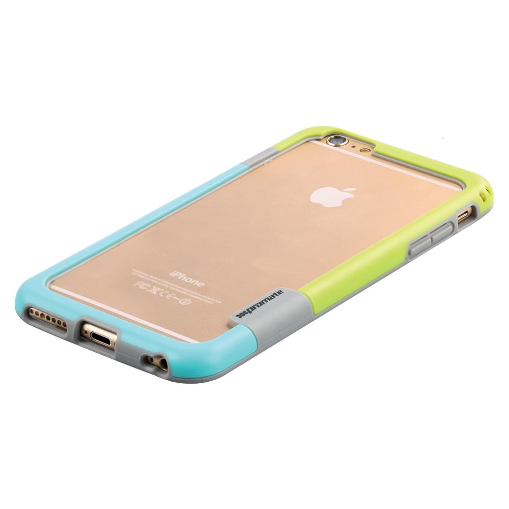 Promate Fendy-i6P чехол-накладка для iPhone 6 Plus, Green00008334Fendy-i6P являет собой потрясающий пример минималистского подхода к экстраординарным методам защиты. Внешний край бампера красиво обрамляет контуры вашего нового iPhone 6 Plus. Точные технологические отверстия дают полный доступ ко всем кнопкам, портам и камерам, а мягкая прорезиненная основа вместе с серьезной оснасткой гарантируют исключительную защиту.