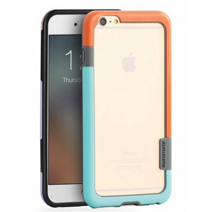 Promate Fendy-i6P чехол-накладка для iPhone 6 Plus, Orange00008332Fendy-i6P являет собой потрясающий пример минималистского подхода к экстраординарным методам защиты. Внешний край бампера красиво обрамляет контуры вашего нового iPhone 6 Plus. Точные технологические отверстия дают полный доступ ко всем кнопкам, портам и камерам, а мягкая прорезиненная основа вместе с серьезной оснасткой гарантируют исключительную защиту.