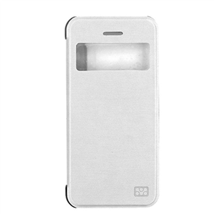Promate Fenes 5c чехол для iPhone 5c, White00007882Promate Fenes 5c - это симпатичный чехол в форме книжки для вашего iPhone 5с. Смартфон надежно крепится прозрачной клипсой к задней крышке чехла, при этом обеспечивая полный доступ к портам и кнопкам управления. Через окошкона передней панели чехла пользователь может наблюдать за часами на экране iPhone 5c.