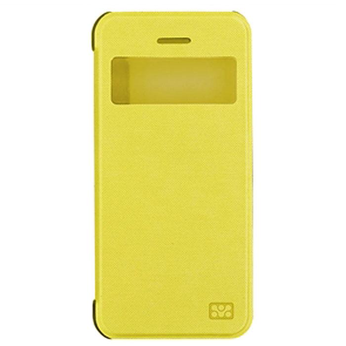 Promate Fenes 5c чехол для iPhone 5c, Yellow00007881Promate Fenes 5c - это симпатичный чехол в форме книжки для вашего iPhone 5с. Смартфон надежно крепится прозрачной клипсой к задней крышке чехла, при этом обеспечивая полный доступ к портам и кнопкам управления. Через окошкона передней панели чехла пользователь может наблюдать за часами на экране iPhone 5c.