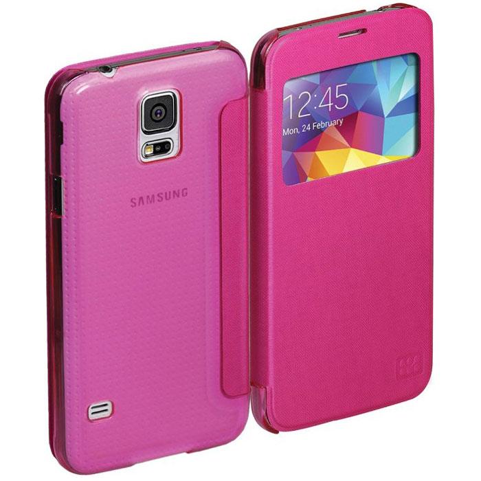 Promate Fenes-S5 чехол для Samsung Galaxy S5, Pink00007725Promate Fenes-S5 - симпатичный чехол в форме книжки для вашего Samsung Galaxy S5. Смартфон надежно крепится прозрачной клипсой к задней крышке чехла, при этом обеспечивая полный доступ к портам и кнопкам управления. Через окошко на передней панели чехла пользователь может наблюдать за часами на экране Samsung Galaxy S5.