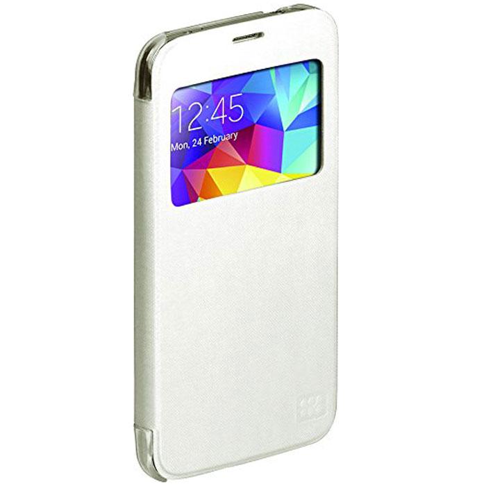 Promate Fenes-S5 чехол для Samsung Galaxy S5, White00007906Promate Fenes-S5 - симпатичный чехол в форме книжки для вашего Samsung Galaxy S5. Смартфон надежно крепится прозрачной клипсой к задней крышке чехла, при этом обеспечивая полный доступ к портам и кнопкам управления. Через окошко на передней панели чехла пользователь может наблюдать за часами на экране Samsung Galaxy S5.