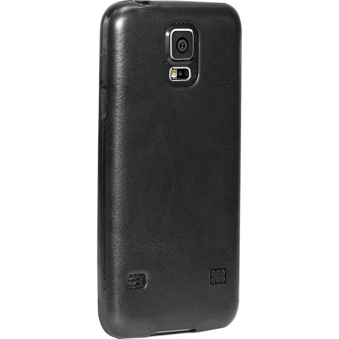 Promate Lanko-S5 чехол-накладка для Samsung Galaxy S5, Black00007719Promate Lanko-S5 - это элегантная накладка, изготовленная из высококачественного поликарбоната и с ручной отделкой из кожи, которая защищает ваш Samsung Galaxy S5. Ее прочный корпус крепится на заднюю стенку смартфона и защищает его от ударов и царапин. Технические отверстия вырезаны максимально точно и обеспечивают неограниченный доступ к портам кнопкам вашего телефона.
