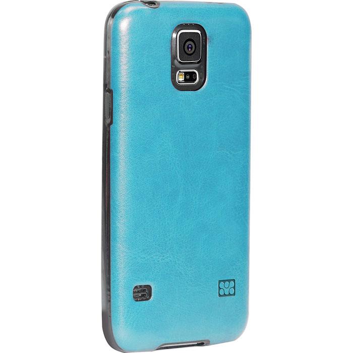 Promate Lanko-S5 чехол-накладка для Samsung Galaxy S5, Blue00007889Promate Lanko-S5 - это элегантная накладка, изготовленная из высококачественного поликарбоната и с ручной отделкой из кожи, которая защищает ваш Samsung Galaxy S5. Ее прочный корпус крепится на заднюю стенку смартфона и защищает его от ударов и царапин. Технические отверстия вырезаны максимально точно и обеспечивают неограниченный доступ к портамкнопкам вашего телефона.