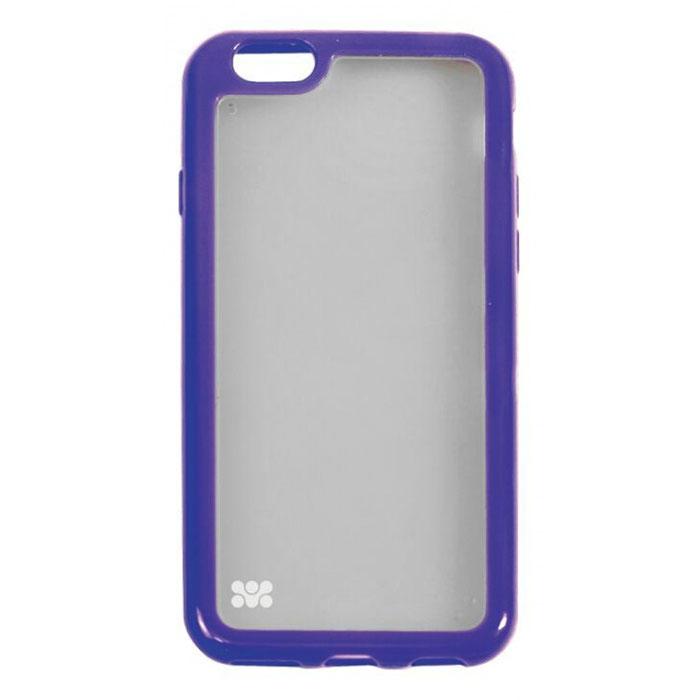 Promate Amos-i6 чехол-накладка для iPhone 6, Purple00008226Promate Amos-i6 является новым аксессуаром для iPhone-6, она идеально прилегает к корпусу и повторяет силуэт смартфона. Ультраэластичность превосходно защищает телефон от царапин и потертостей. В данной накладке встречаются практичность и дизайн. Доступность моделей в разных цветах позволяет менять стиль вашего iPhone каждый день!