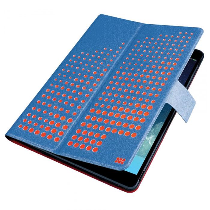 Promate Axis-Air чехол для iPad Air, Blue00007590Promate Axis-Air- это комбинация яркого дизайна и исключительной функциональности. Встроенный поворотный механизм делает элементарным переход из горизонтального в вертикальное положения и наоборот. С помощью чехла еще и регулируется уровень наклона. Специальный магнитный замок поддерживает функцию авто-слип (при открытии/закрытии крышки планшетный компьютер включается или отключается автоматически). Яркий внешний вид в сочетании с мягкой обивкой внутренней части чехла делают Axis-Air незаменимым и модным атрибутом вашего имиджа.