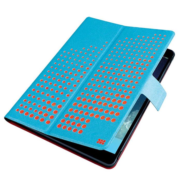 Promate Axis-Air чехол для iPad Air, Light Blue00008042Promate Axis-Air - это комбинация яркого дизайна и исключительной функциональности. Встроенный поворотный механизм делает элементарным переход из горизонтального в вертикальное положения и наоборот. С помощью чехла еще и регулируется уровень наклона. Специальный магнитный замок поддерживает функцию авто-слип (при открытии/закрытии крышки планшетный компьютер включается или отключается автоматически). Яркий внешний вид в сочетании с мягкой обивкой внутренней части чехла делают Axis-Air незаменимым и модным атрибутом вашего имиджа.