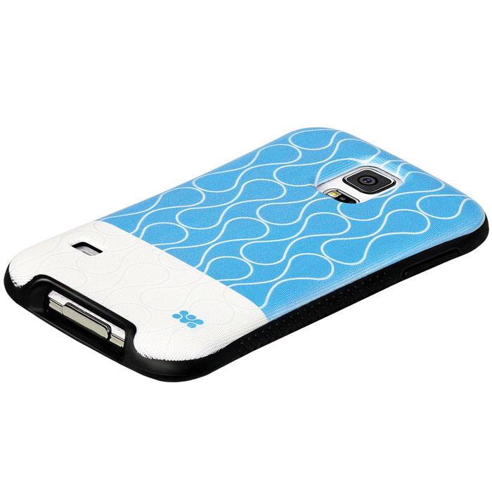 Promate Cameo-S5 чехол-накладка для Samsung Galaxy S5, Blue00007935Promate Cameo-S5 - возможность заявить о своем стиле через Samsung Galaxy S5. Это прежде всего сочетание дизайнерской роскоши и одновременно максимальная защита для дорогого устройства. Скрытый карман позволяет использовать накладку для хранения кредитный карт, абонементов, денег и прочего. Стиль и функциональность слились в дизайне Promate Cameo-S5, предлагая пользователю максимальный комфорт.