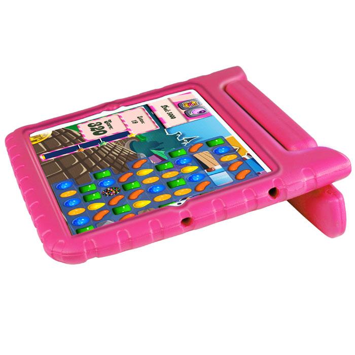 Promate Bamby.Air чехол для iPad Air, Pink00008013Promate Bamby.Air специально сделан для детей, ведь его ударопрочный корпус, изготовленный из резинового силикона, и способен защитить планшетный компьютер от самых сильных потрясений. Ручка Bamby.Air подвижна и с легкостью превращает его в удобную вертикальную подставку для просмотра видео или чтения. Он изготовлен из безопасных нетоксичных материалов, имеет суперлегкий вес, и представлен в разной цветовой гамме. Пусть технологии в виде iPad Air приходят в жизнь вашего ребенка защищенными Bamby.Air.