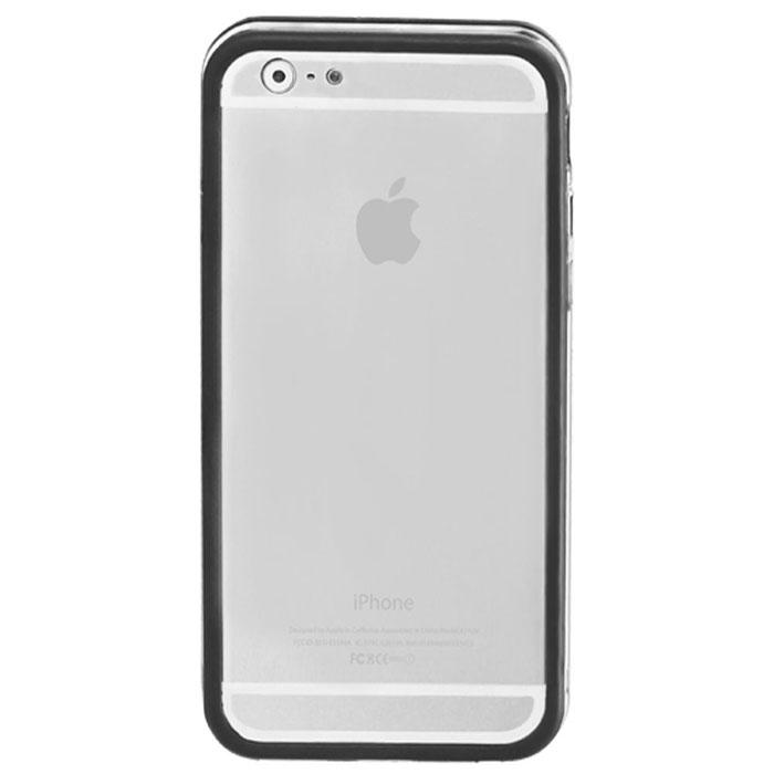 Promate Bump-i6 чехол-накладка для iPhone 6, Black00008237Promate Bump-i6 - потрясающий пример минималистского подхода к качественной защите. Внешний край бампера красиво обрамляет корпус iPhone 6. Ничего лишнего - только жесткая оснастка и прорезиненный бампер с ультра-мягким покрытием. Точные технологические вырезы обеспечивают полный доступ ко всем кнопкам и разъемам.