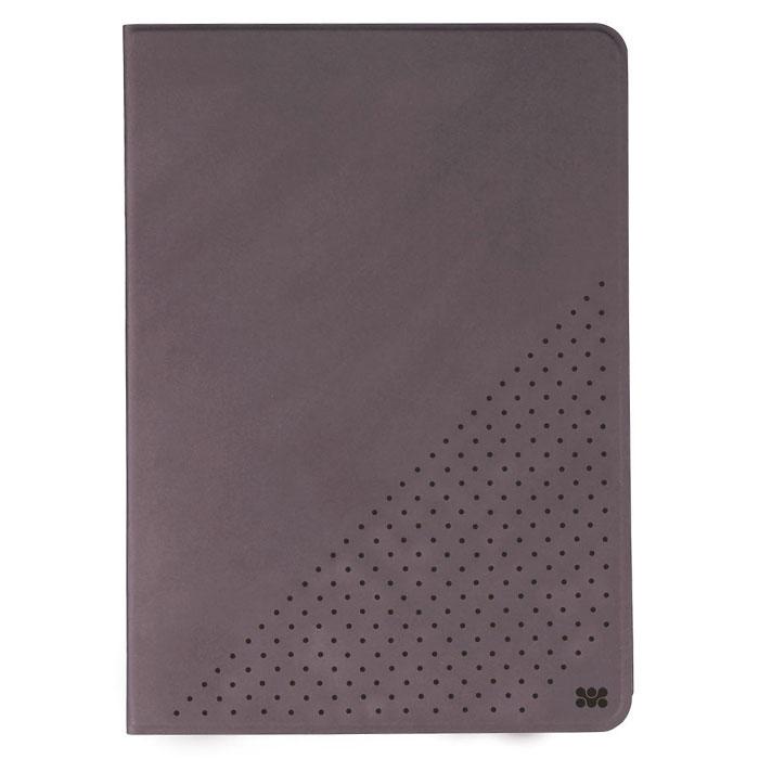 Promate Dotti чехол для iPad Air 2, Grey00007582Promate Dotti - это удобный и функциональный чехол, который защитит ваш iPad Air 2 от случайных ударов, падений, потертостей и царапин. Специальные захваты надежно фиксируют планшет внутри чехла, при этом, не ограничивая доступ ко всем его портам, камерам и переключателям. Крышка чехла может трансформироваться в опору, превращая его в подставку для горизонтального просмотра содержимого на экране. Материалом отделки с внутренней стороны является мягкая микрофибра, надежно защищающая экран и корпус устройства от потертостей и царапин.