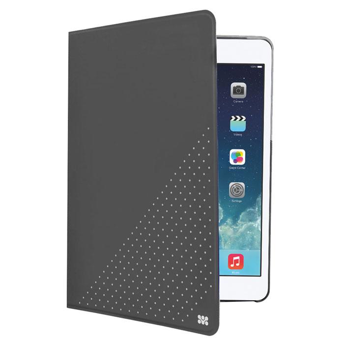 Promate Dotti-mini чехол для iPad mini, Grey00007597Promate Dotti-mini - это удобный и функциональный чехол, который защитит ваш iPad mini от случайных ударов, падений, потертостей и царапин. Специальные захваты надежно фиксируют планшет внутри чехла, при этом, не ограничивая доступ ко всем его портам, камерам и переключателям. Крышка чехла может трансформироваться в опору, превращая его в подставку для горизонтального просмотра содержимого на экране. Материалом отделки с внутренней стороны является мягкая микрофибра, надежно защищающая экран и корпус устройства от потертостей и царапин.