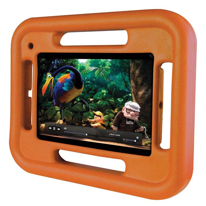 Promate FellyMini чехол для iPad mini, Orange00008048Promate FellyMini - изготовлен из особо прочного резинового силикона, он легкий и ударопрочный, ребенку будет нелегко сломать оберегаемый им iPad mini. Он изготовлен из безопасный нетоксичных материалов, имеет очень легкий вес и представлен в яркой цветовой гамме. FellyMini специально разработан для iPad mini и поэтому все технические отверстия идеально подходят под все порты и клавиши управления.