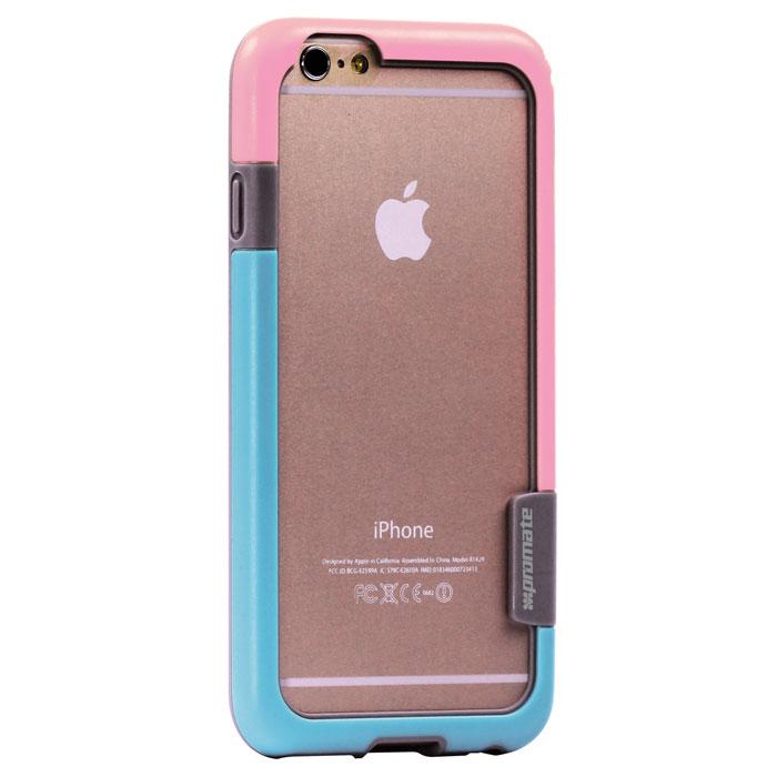Promate Fendy-i6 чехол-накладка для iPhone 6, Pink00008297Promate Fendy-i6 являет собой потрясающий пример минималистского подхода к экстраординарным методам защиты. Внешний край бампера красиво обрамляет контуры вашего нового iPhone 6. Точные технологические отверстия дают полный доступ ко всем кнопкам, портам и камерам, а мягкая прорезиненная основа вместе с серьезной оснасткой гарантируют исключительную защиту.
