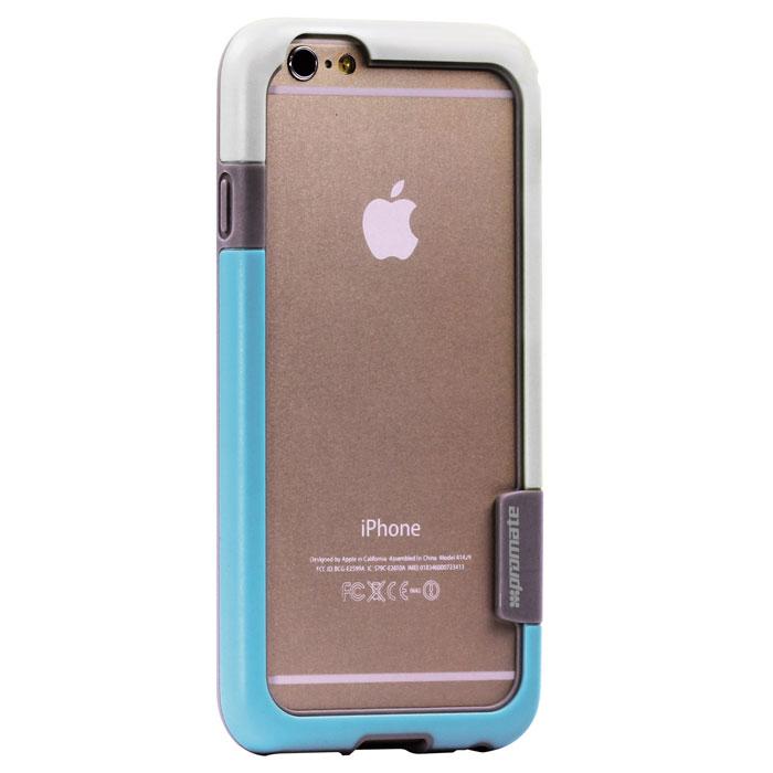 Promate Fendy-i6 чехол-накладка для iPhone 6, White00008325Fendy-i6 являет собой потрясающий пример минималистского подхода к экстраординарным методам защиты. Внешний край бампера красиво обрамляет контуры Вашего нового iPhone 6. Точные технологические отверстия дают полный доступ ко всем кнопкам, портам и камерам, а мягкая прорезиненная основа вместе с серьезной оснасткой гарантируют исключительную защиту.