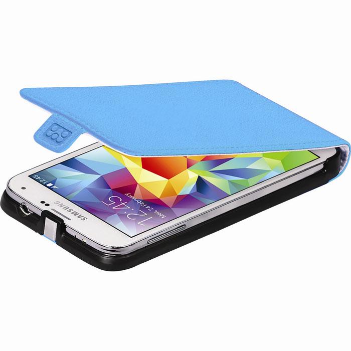 Promate Filion-S5 чехол для Samsung Galaxy S5, Blue00007729Promate Filion-S5 - защитный чехолс вертикальной флип-крышкой, обеспечивающий оптимальную сохранность телефона от царапин и потертостей. Когда смартфон не используется, магнитный замок на кожаном язычке надежно фиксирует крышку и обеспечивает сохранность экрана. Также флип-крышка помогает использовать Filion-S5 как горизонтальную подставку для смартфона. Доступен в разных цветовых решениях, что позволяет выбрать чехол под ваш индивидуальный стиль.
