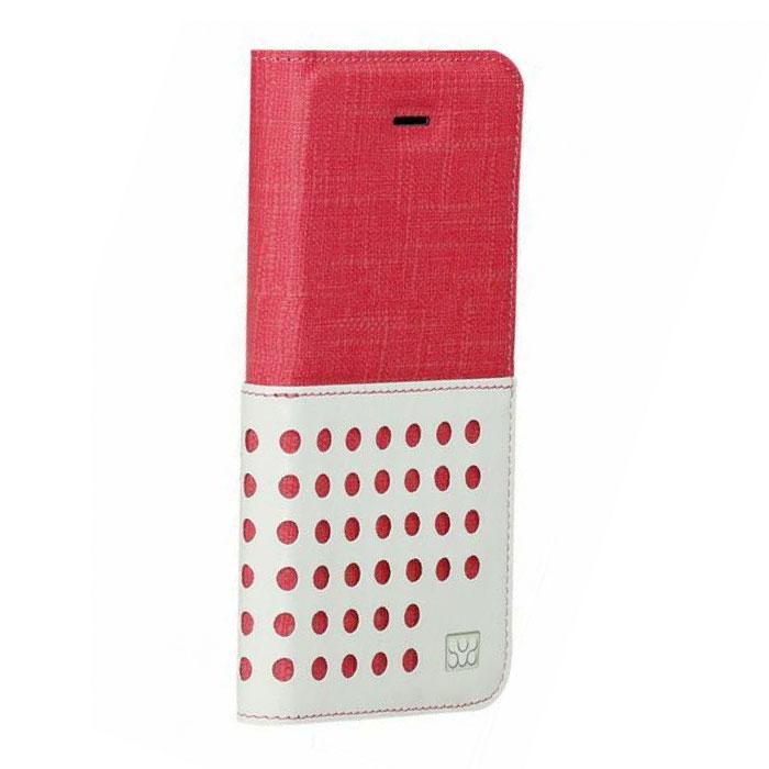 Promate Gash-i6 чехол для iPhone 6, Red00008250Promate Gash-i6 - стильный чехол, выполненный из ткани премиум класса. Он обеспечивает качественную защиту вашему смартфону. Поликарбонатная оснастка прекрасно защищает сам телефон от сколов и царапин. Модный и очень удобный в использовании!