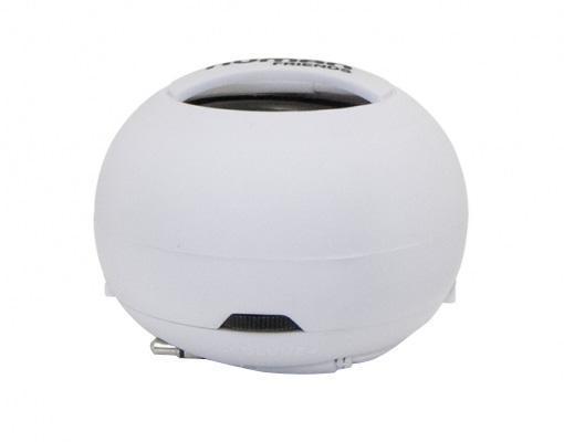 """Human Friends Sphere, White портативная акустическая системаSphereПортативная колонка Human Friends """"Sphere"""", благодаря своей компактности и легкости, позволит вам насладиться хорошим звучанием в любом удобном месте. Море, пляж, дача - теперь вся природа будет танцевать вместе с вами. Колонка удобна в транспортировке, а встроенный аккумуляторбудет радовать вас своей работой до 8 часовНесмотря на размеры Sphere имеет серьезный частотный диапазон, от 100 до 20 000 Гц, при этом глубина низких частот может быть усилена за счет дополнительного резонатора. Чтобы его задействовать, достаточно провернуть верхнюю и нижнюю полусферы корпуса в противоположных направленияхДля создания еще большего музыкального эффекта объедините сколь угодно большое количество устройств в одну «цепь» и заполните этот мир любимыми звуками. Колонка заряжается через USB и через 2 часа снова готова вас радовать"""