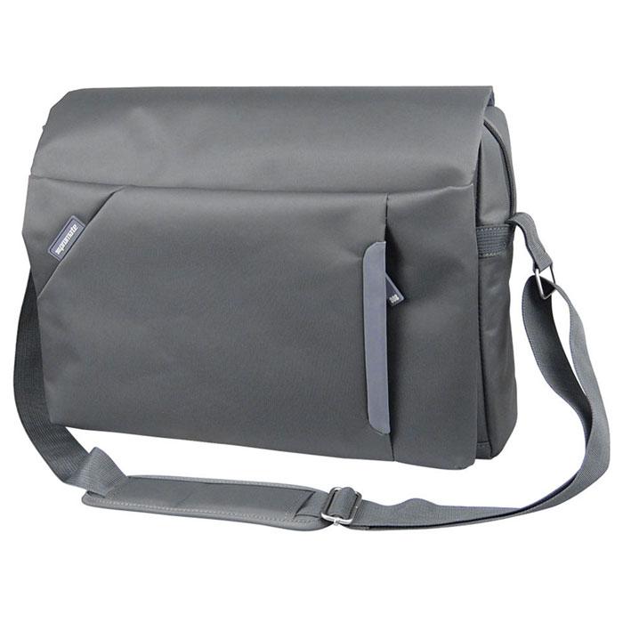 Promate Kini.mn сумка для ноутбука 15,6,Grey00007670Promate Kini.mn - стильная сумка для хранения и переноски ноутбуков с диагональю экрана не более 15,6 дюймов. Она компактна, но при этом универсальна и многофункциональна. Дизайнеры постарались выжать максимум пользы от каждого свободного места для хранения разного рода мелочей и устройств, которые вы ежедневно берете с собой в дорогу. Ее дизайн придется по душе молодым и энергичным людям, которые находятся в постоянном движении. Сумка изготовлена на 58% из нейлона, на 40% из полиэстера и на 2% из PU кожи (декоративные вставки), что делает ее износостойкой и легкой.
