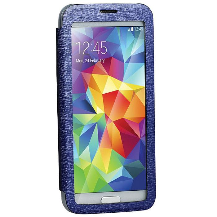 Promate Lucent-S5 чехол для Samsung Galaxy S5, Dark Blue00007911Promate Lucent-S5- симпатичный стильный чехол с прозрачной флип-крышкой, которая позволяет наблюдать за экраном вашего Samsung Galaxy S5, при этом защищая смартфон от царапин и потертостей. Его дизайн специально разработан для Galaxy S5, что гарантирует максимально плотное прилегание смартфона к чехлу, при это обеспечивая полный доступ ко всем портам и кнопкам управления.