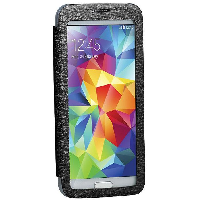 Promate Lucent-S5 чехол для Samsung Galaxy S5, Black00007726Promate Lucent-S5 - симпатичный стильный чехол с прозрачной флип-крышкой, которая позволяет наблюдать за экраном вашего Samsung Galaxy S5, при этом защищая смартфон от царапин и потертостей. Его дизайн специально разработан для Galaxy S5, что гарантирует максимально плотное прилегание смартфона к чехлу, при это обеспечивая полный доступ ко всем портам и кнопкам управления.