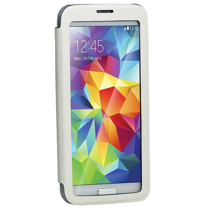 Promate Lucent-S5 чехол для Samsung Galaxy S5, White00007909Promate Lucent-S5- симпатичный стильный чехол с прозрачной флип-крышкой, которая позволяет наблюдать за экраном вашего Samsung Galaxy S5, при этом защищая смартфон от царапин и потертостей. Его дизайн специально разработан для Galaxy S5, что гарантирует максимально плотное прилегание смартфона к чехлу, при это обеспечивая полный доступ ко всем портам и кнопкам управления.