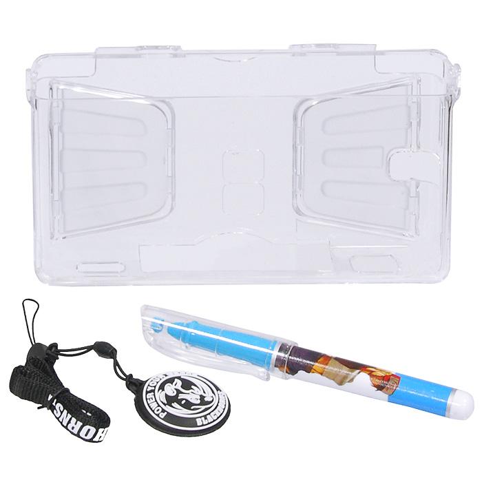 Black Horns Kit 4 in 1набор аксессуаров для Nintendo DS LiteBH-DSL09302Набор аксессуаров Black Horns Kit 4 in 1 для приставки Nintendo DS Lite. В комплекте: Пластиковый корпус, изготовленный из поликарбоната. Обеспечит защиту для вашей приставки и убережет ее от царапин и сколов. Для комфортного использования корпус содержит силиконовые вставки.Стилус.Корпус для стилуса в виде шариковой ручки.Удобный ремешок на руку, оснащенный очищающей подушечкой. С ее помощью экран вашей приставки всегда будет оставаться чистым.
