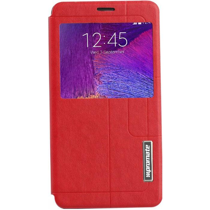 Promate Tama-N4 чехол для Samsung Galaxy Note 4, Red00008364Чехол Promate Tama-N4 привлечет ваше внимание с первого взгляда: удобный, практичный, стильный! Внутренняя оснастка удерживает Galaxy Note 4 аккуратно, но в тоже время очень надежно. Передняя крышка фиксируется удобным магнитным замком. Tama-N4поддерживает опцию горизонтальной установки смартфона для удобного просмотра информации или видео, а наличие внутреннего отделения для карточек делает этот чехол действительно многофункциональным. Прозрачный сенсорный экран делает использование вашего Galaxy Note 4 много удобней и практичней. Доступен в нескольких цветовых решениях.