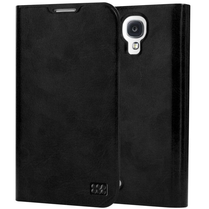 Promate Tama-S4 чехол для Samsung Galaxy S4, Black00007747Дизайнеры Promate Tama-S4 смогли создать по-настоящему многофункциональный и практичный чехол для Galaxy S4. В передней флип крышке предусмотрены карманы для кредитный карт, абонементов, визиток и др, а также встроен магнитный замок, плотно и надежно фиксирующий крышку при закрывании. Складной дизайн чехла позволяет использовать его как горизонтальную подставку для смартфона.Доступен в разных цветовых решениях.