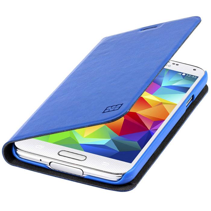 Promate Tama-S5 чехол для Samsung Galaxy S5, Light Blue00007905Дизайнеры Tama-S5 смогли создать по-настоящему многофункциональный и практичный чехол для Galaxy S5. В передней флип - крышке предусмотрены карманы для кредитных карт, абонементов, визиток и пр, а также встроен магнитный замок, плотно фиксирующий крышку при закрывании. Складной дизайн чехла позволяет его использовать как горизонтальную подставку для смартфона. Разные цвета придадут вашему Samsung яркую индивидуальность.