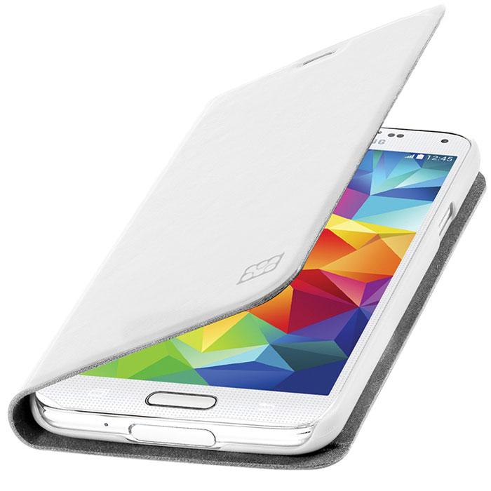 Promate Tama-S5 чехол для Samsung Galaxy S5, White00007903Дизайнеры Tama-S5 смогли создать по-настоящему многофункциональный и практичный чехол для Galaxy S5. В передней флип - крышке предусмотрены карманы для кредитных карт, абонементов, визиток и пр, а также встроен магнитный замок, плотно фиксирующий крышку при закрывании. Складной дизайн чехла позволяет его использовать как горизонтальную подставку для смартфона. Разные цвета придадут вашему Samsung яркую индивидуальность.