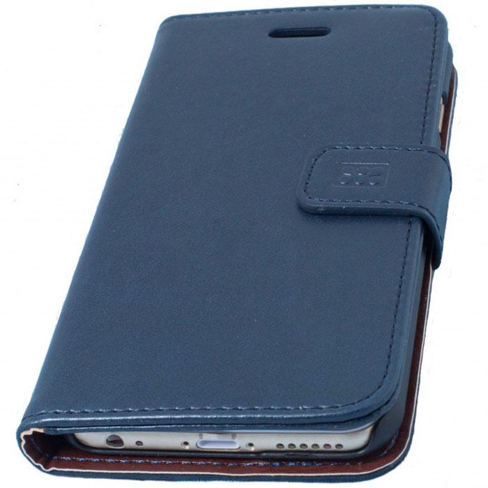 Promate Tava-i6 чехол для iPhone 6, Blue00008210Promate Tava-i6 - уникальный кожаный чехол, разработанный именно для iPhone 6. Помимо качественной защиты вашего смартфона он обладает рядом приятных дополнительных опций, таких как: подставка для просмотра информации на телефоне (в горизонтальной плоскости) и удобное внутреннее отделение для карт. Удобная магнитная защелка прекрасно защищает экран, когда телефон не используется. Выбор практичных и рациональных людей!