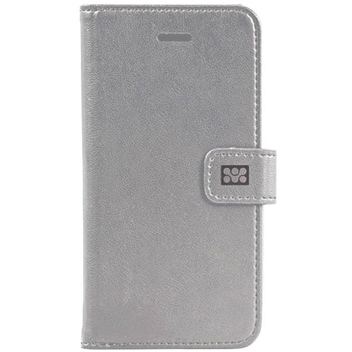Promate Tava-i6 чехол для iPhone 6, Grey00008209Promate Tava-i6 - уникальный кожаный чехол, разработанный именно для iPhone 6. Помимо качественной защиты вашего смартфона он обладает рядом приятных дополнительных опций, таких как: подставка для просмотра информации на телефоне (в горизонтальной плоскости) и удобное внутреннее отделение для карт. Удобная магнитная защелка прекрасно защищает экран, когда телефон не используется. Выбор практичных и рациональных людей!