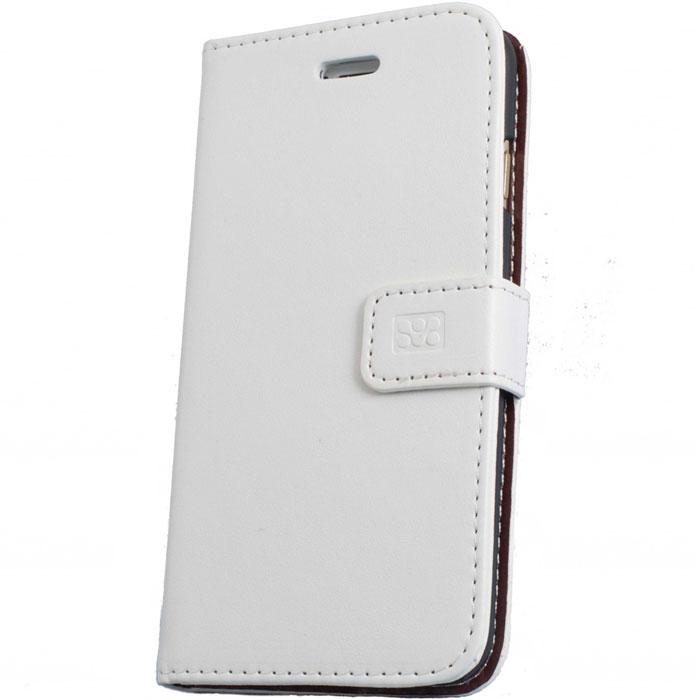 Promate Tava-i6 чехол для iPhone 6, White00008211Promate Tava-i6 - уникальный кожаный чехол, разработанный именно для iPhone 6. Помимо качественной защиты вашего смартфона он обладает рядом приятных дополнительных опций, таких как: подставка для просмотра информации на телефоне (в горизонтальной плоскости) и удобное внутреннее отделение для карт. Удобная магнитная защелка прекрасно защищает экран, когда телефон не используется. Выбор практичных и рациональных людей!