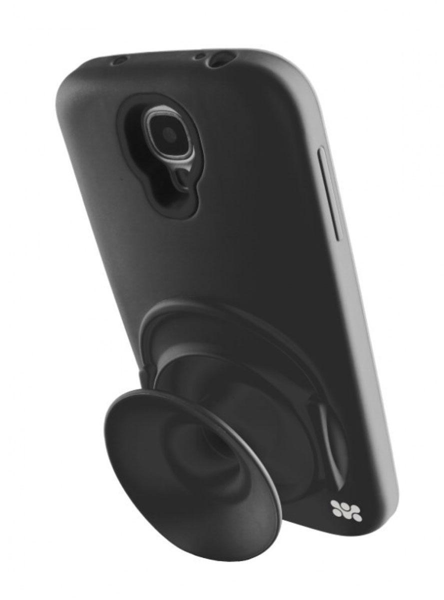 Promate Orator.S4 чехол-накладка для Samsung Galaxy S4, Black00007948Чехол-накладка Promate Orator.S4 для Samsung Galaxy S4 - это целый комплекс функций, заключенных в кремниево-силиконовом корпусе. Orator-S4 обеспечивает надежную защиту вашего смартфона от царапин, сколов, потертостей и прочих неприятностей. Раскладной силиконовый рупор усиливает штатный звук смартфона в 2 раза, а также является бобиной для наматывания и хранения наушников, исключая их запутывание и скручивание. Чехол может быть использован в качестве вертикальной подставки. Orator-S4 идеально подходит для любителей слушать музыку с телефона.