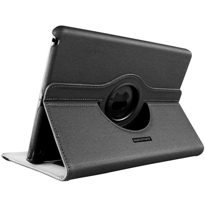 Promate Spino-Air чехол для iPad Air, Grey00008032Promate Spino-Air- уникальный защитный чехол с тканевым покрытием поверх пробковой основы на поликарбонатном корпусе создан для надежной защиты вашего iPad Air от случайных ударов, падений, потертостей и царапин. Поворотный механизм, реализованный в Spino-Air, позволяет вращать экран на 360 градусов (чехол при этом не двигается). Система крепления ПК к чехлу обеспечивает полный доступ к портам и клавишам управления iPad Air. Promate Spino-Air - надежная защита на каждый день.
