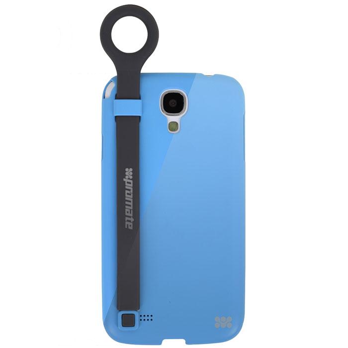 Promate Pless-S4 чехол-накладка для Samsung Galaxy S4, Blue00007950Promate Pless-S4- это модная и современная защитная накладка на смартфон Samsung Galaxy S4. Отличительной чертов в дизайне Pless-S4 является наличие на тыльной стороне накладки стильного ремешка с держателем-кольцом на конце. Удерживая пальцем за держатель, шансы уронить смартфон будет равны нулю. Ремешок при вытягивании превращает накладку в горизонтальную подставку. Promate Pless-S4 добавит вашему Galaxy S4 максимум дополнительной функциональности.