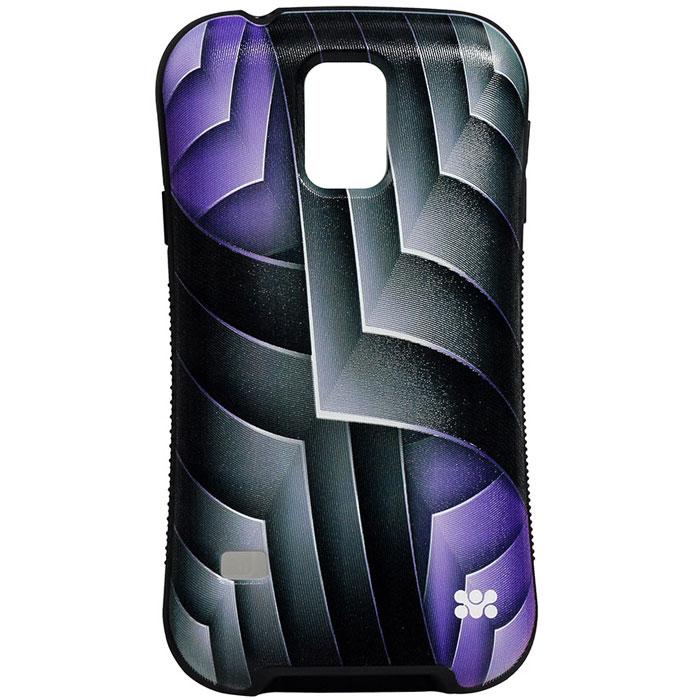 Promate Rash-S5 чехол-накладка для Samsung Galaxy S5, Purple00007932Promate Rash-S5 - это художественно оформленная накладка для Samsung Galaxy S5, которая притягивает внимание своим ярким, вызывающим и современным дизайном. Корпус накладки выполнен из термопластичного полиуретана и с нанесенным на него сюрреалистичным рисунком обеспечивает надежную защиту от ударови сколов при случайных падениях. В Promate Rash-S5 предусмотрен скрытый карман для хранения кредитный карт, проездных, визиток и пр, а художественно оформленная поверхность добавляет изысканности вашему смартфону.