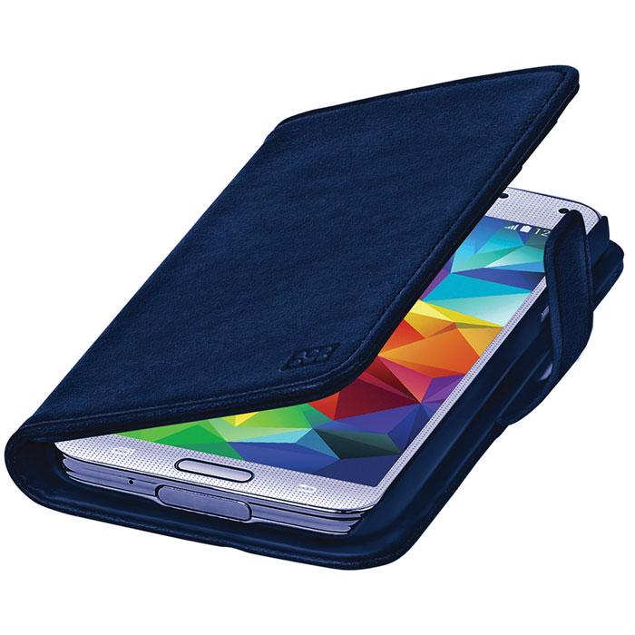 Promate Zimba-S5 чехол для Samsung Galaxy S5, Blue00007913Zimba-S5 - превосходный защитный чехол с крышкой, оформленный в виде бумажника. С внутренней стороны крышки предусмотрены 3 горизонтальных кармана для визиток, пластиковых карт, проездных абонементов и т.д., а также один большой вертикальный карман. Конструкция предусматривает использование Zimba-S5 в виде горизонтальной подставки для вашего Galaxy S5. Специальные технические вырезы на чехле обеспечивают полный доступ ко всем портам и кнопкам управления устройства.