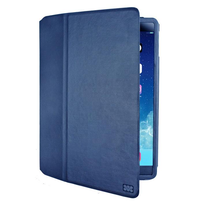 Promate Veil-Air чехол для iPad Air 2, Blue00008034Чехол Promate Veil-Air - изысканный кожаный защитный чехол с магнитным замком крышки для максимальной защиты вашего iPad Air 2 от случайных ударов, падений, потертостей и царапин. Изготовлен с использованием кожи премиум класса в элегантном книжном дизайне. Складная крышка позволяет использовать этот чехол как горизонтальную подставку для вашего планшетного компьютера, а внутренняя отделка из микрофибры защитит экран планшетника от потертостей. Veil.Air разработан специально для iPad Air 2, поэтому дизайн чехла обеспечивает легкий доступ ко всем портам, кнопкам управления и камерам. Чехол обладает интеллектуальной функцией авто-слип (включение/отключение вашего планшетного компьютера при открытии/закрытии крышки). Promate Veil.Air - изысканный защитник Вашего iPad Air 2.