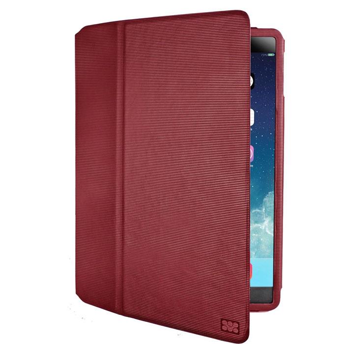 Promate Veil-Air чехол для iPad Air 2, Red00008033Чехол Promate Veil-Air - изысканный кожаный защитный чехол с магнитным замком крышки для максимальной защиты вашего iPad Air 2 от случайных ударов, падений, потертостей и царапин. Изготовлен с использованием кожи премиум класса в элегантном книжном дизайне. Складная крышка позволяет использовать этот чехол как горизонтальную подставку для вашего планшетного компьютера, а внутренняя отделка из микрофибры защитит экран планшетника от потертостей. Veil.Air разработан специально для iPad Air 2, поэтому дизайн чехла обеспечивает легкий доступ ко всем портам, кнопкам управления и камерам. Чехол обладает интеллектуальной функцией авто-слип (включение/отключение вашего планшетного компьютера при открытии/закрытии крышки). Promate Veil.Air - изысканный защитник Вашего iPad Air 2.
