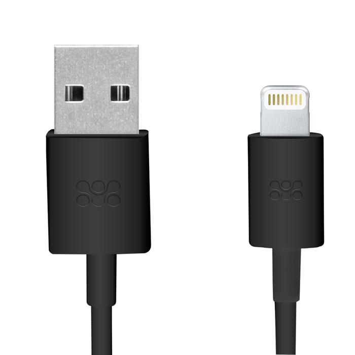 Promate linkMate-LT, Black кабель USB00007530Promate linkMate.LT является сертифицированным по стандартам Apple MFI премиум соединительным кабелем длиной 1,2 метра, который предназначен для зарядки и синхронизации устройств последнего поколения от компании Apple.Подключается к стандартному USB порту.Функция стабильной зарядки и бесперебойной синхронизации.Сделано из ABS пластика и flexShield ПВХ с медным напылением.